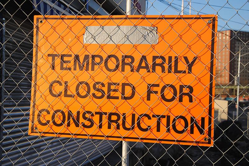 Umleitung wegen Baustelle/Anfahrt aus nördlicher Richtung (Durchfahrt gesperrt)